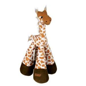 Trixie Hundelegetøjs Bamse Giraf i Plys - Med Lange Ben - 33cm - Med Rasle og Pivelyd - - - -