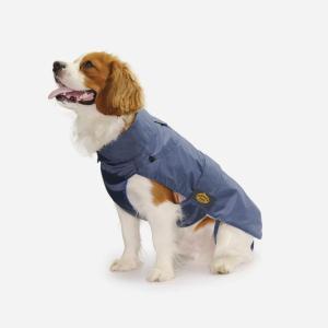 Blå regnjakke med aftageligt foer fra Fashion Dog (art.109)