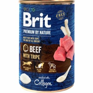 Brit Premium By Nature dåsemad Beef w/tripe, 400g