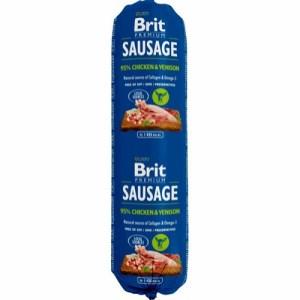 Brit Sausage Chicken & Venison, 800g