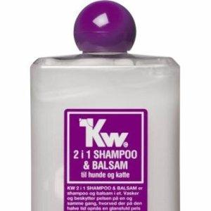 Kw Hunde og Katte Shampoo og Balsam 2i1 - 500ml - - - -