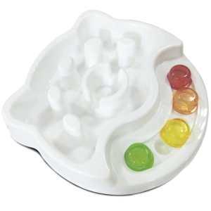 M-Pets madskål - Viola - Hvid