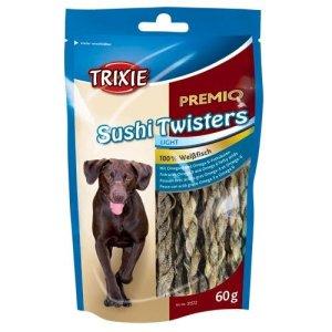 Trixie Premio Hunde Snack Godbidder med Sushi Twisters - Hvid Fiskeskind - 60g - 100% Fisk