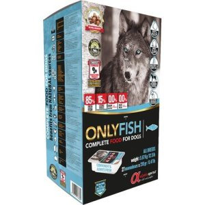 AlphaSpirit Hundefoder Komplet - Med Fisk - Flere Størrelser - Semi Fugtigt - Allergivenligt - 85% Kød - Kornfrit