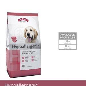 Arion Hypoallergenic Hundefoder - Med Laks og Krill - 12kg