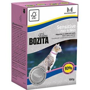 Bozita Feline Katte Vådfoder - Hår & Pels - Gele - 190g - Tetra