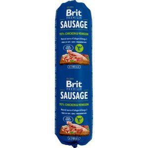 Brit Sausage vådfoder Kylling og Vildt 800g