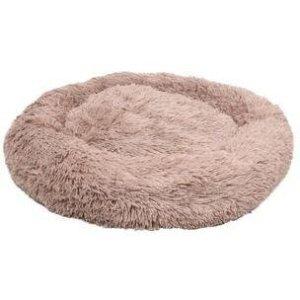 Flamingo Donut Fluffy Hundeseng - Lysebrun - Ø70cm