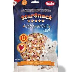 StarSnack Mini Hunde Snack Godbidder - Med bløde Kyllinge Sanwich - 70g - 2% Fedt - - - -