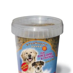 Starsnack Hunde Snack Godbidder Duo Ben med Kallun, Vildt, Oksekød og Lakseolie - Sukkerfrie - Lavt Fedt indhold - 500g