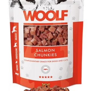 Woolf Hunde Snack Godbidder - Med Lakse Chunkies - 100g - 91% Fisk