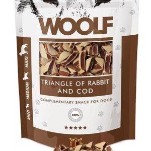 Woolf Hunde Snack Godbidder Trekanter - Med Lam og Torsk - 100g - 90% Kød