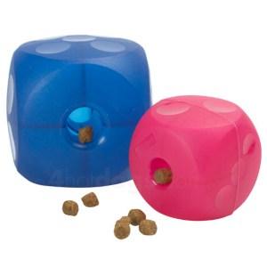 BUSTER Soft Cube No Noice-Blå-12x12 cm, fra hund 10 kg og op