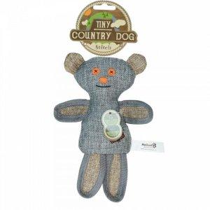 Country Dog Tiny Stitch Hundelegetøjs Bamse - Genbrugsplast - 20cm
