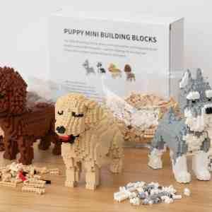 Hundehvalp Mini 3D-byggesæt - Husky