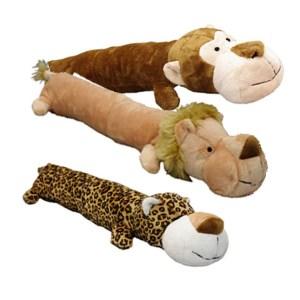 Hundelegetøj vilde plys med piv -Leopard