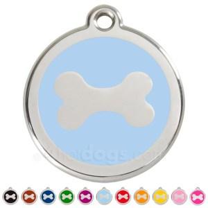 Hundetegn Kødben medium-Blå