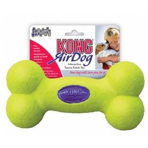 KONG AirDog Squeaker Bone tennisbold-Small