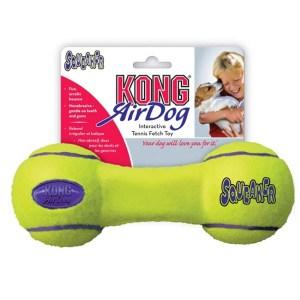 KONG AirDog Squeaker Dumbbell tennisbold-Small