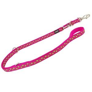 Reddingo dressurline Pink med lime stjerner-2 cm