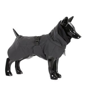 Reflekternde hundevinter jakke sort-Ryg 45 cm