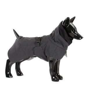 Reflekternde hundevinter jakke sort-Ryg 70 cm
