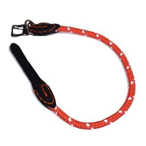 Rundt hundehalsbånd med refleks Orange-25