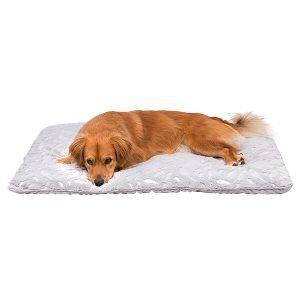 Trixie Fjer Hundetæppe - Grå og Sølv - 100x70cm