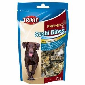 Trixie Premio Hunde Snack Godbidder med Sushi Bider - Hvid Fiskeskind - 75g - 100% Fisk