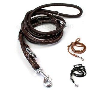 WALKER rund dressurline i læder-Ø: 12 mm-Cognac
