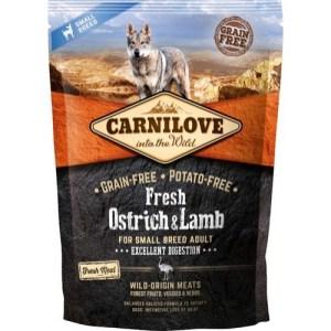 Carnilove Adult Ostrich & Lamb smagsprøve, 100g