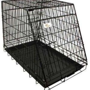 Hunde transportbur Skrå i metal L93 B57.5 H65.5 CM