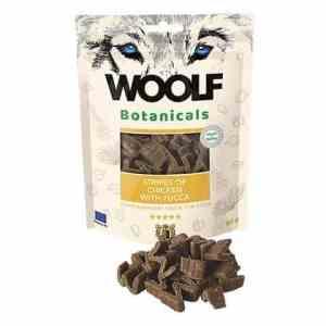 Woolf Botanicals Hunde Snack Godbidder - Med Kylling Stripes & Yucca - 80g