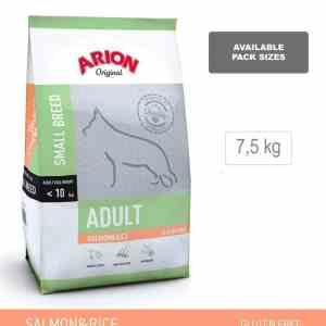 ARION ORIGINAL Adult Small Breed, Laks & Ris, 7,5 kg - incl gratis levering og 2 slags godbidder