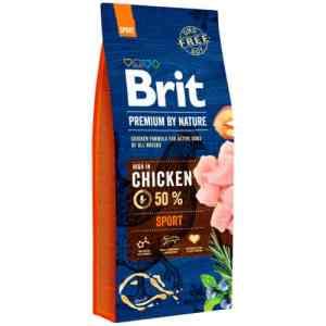 Brit Premium by Nature tørfoder - Sport - Kylling