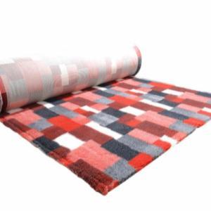Profleece tæppe med patchwork