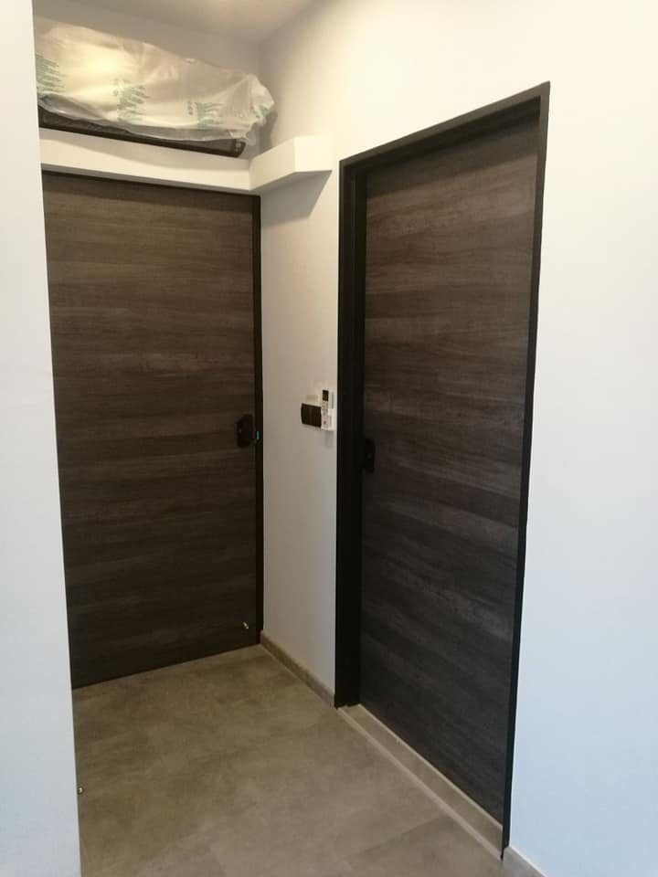 Call 96177025 to buy Black Oak Door and Fire rated HDB door Singapore sales