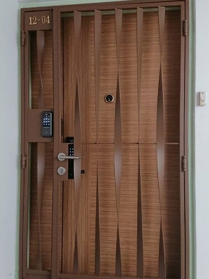 Call 96177025 to buy Twisted HDB Gate and Fire rated HDB door Singapore sales