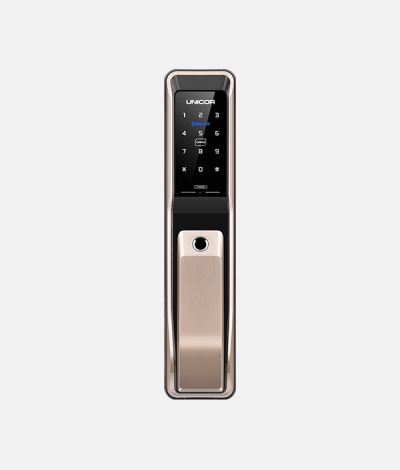 Keywe 360 Smartphone Push Pull Digital Lock (Satin Gold)