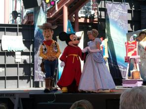 Woody, Mickey and Cinderella