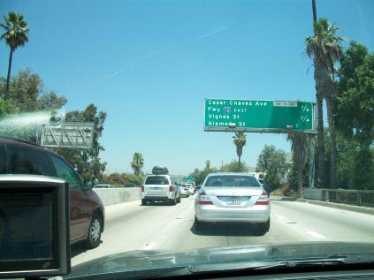 Stuck on a LA Freeway