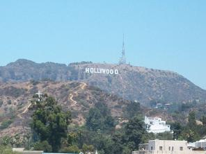 The Hollywood Sign up close