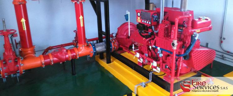 sistemas de bombeo de agua contra incendio
