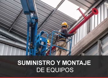 Suministre montaje de equipos contra incendio