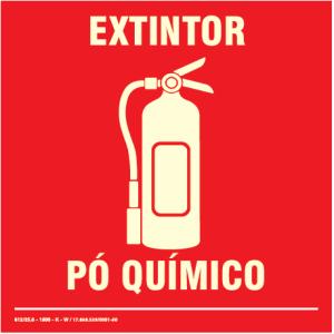 Placa de Sinalização – Extintor Pó Químico