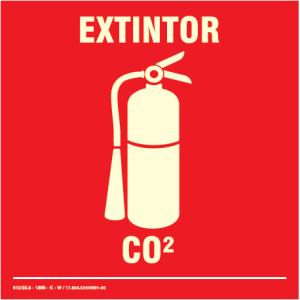 Placa de Sinalização – Extintor de CO2