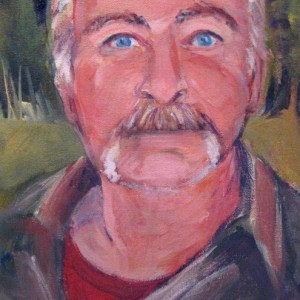 A Portrait of Tracy-painting by Nanci Cook Quadra Island
