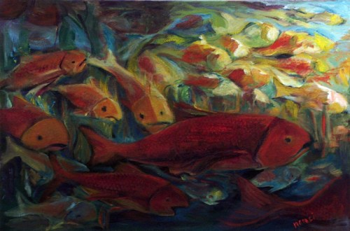 Fish Lights, painting by Nanci Cook