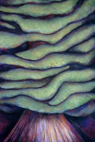 A Tree in the Forest-pastel and chalk painting by Nanci Cook