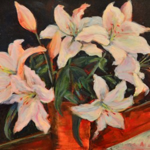 white-lilies-painting